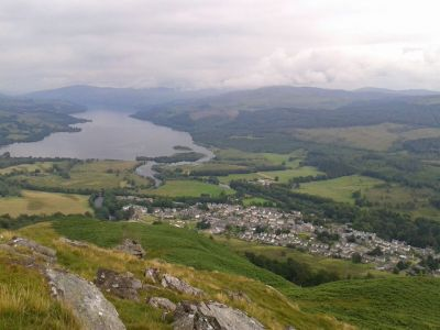 View over Killin and Loch Tay