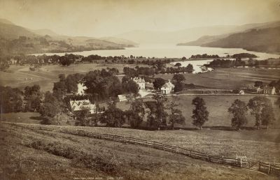 Historic picture of Dall Lodge and Loch Tay, dating back to the middle of the 19th century