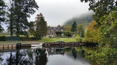 Dall Lodge with River Lochay
